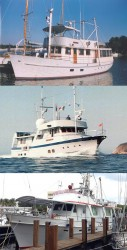 From top to bottom, Briggs' three circumnavigators: Champion (1977-80), Neptune's Chariot (1981-84) and Chartwell (1998-2003).