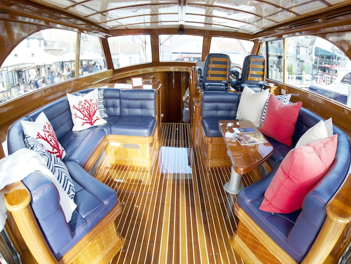Upgrading boat upholstery a modest makeover passagemaker for Painting aluminum boat interior